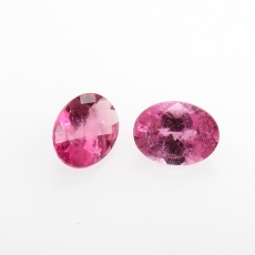 Rubellite Tourmaline Oval Shape 8x6mm Approximately 2.15 Carat Matching Pair
