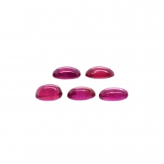 Ruby Cab Oval 5.3x4.5mm Approximately 3 Carat