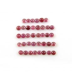 Ruby Cabs Round 2.5mm Approximately 3 Carat
