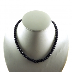 Sapphire Facted Roundelle  Beads 331.25 Carat 8m -7mm Ready To Wear Necklece