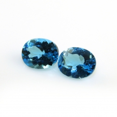 Swiss Topaz Oval 10x8mm Approximately 6 Carat Matching Pair