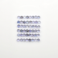 Tanzanite Cab Round Shape 2.6mm Approximately 4 Carat