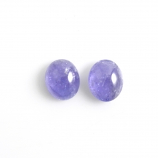 Tanzanite Cabs Oval 11x9mm Matching Pair Approximately 9 Carat