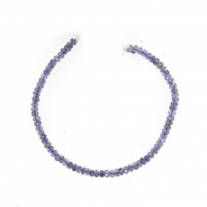 Tanzanite Drops Roundelle Shape 4mm Accent Bead 6 Inch Line