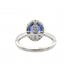 Tanzanite Oval 2.51 Carat Ring With Diamond Accent in 14K White Gold