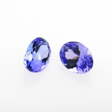 Tanzanite Oval Shape 8x6mm Matching Pair 2.55 Carat
