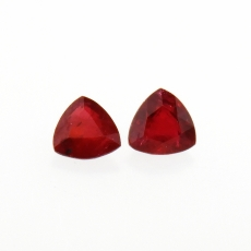Thai Ruby Trillion 4mm Approx 0.57 Carat