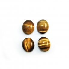 Tiger's Eye Cabs Oval 12x10mm Approximately 19 Carat