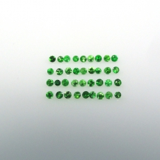 Tsavorite Garnet Approximately 0.25 Carat Round 1mm