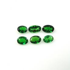 Tsavorite Garnet Approximately 1 Carat Oval Mix