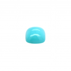 Turquoise Cab Cushion 10mm Single Piece 4.68 Carat