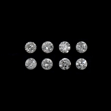 White Diamond Round 1.9mm Approximately 0.22 Carat