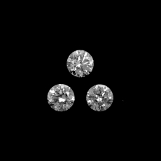White Diamond Round 2.8mm Approximately 0.26 Carat