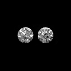 White Diamond Round 3.1mm Matching Pair Approximately 0.24 Carat