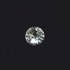 White Sapphire Round 6mm Single Piece Approximately 0.70 Carat