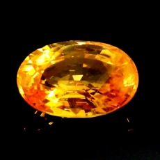 YELLOW SAPPHIRE OVAL 12.0X7.7MM APPROXIMATELY 4.28 CARAT