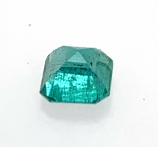 Zambian Emerald Asscher Cut 5mm  0.60 Carat Single Piece