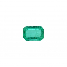 Zambian Emerald Emerald Cut 7.4x5.3mm Single Piece 1.14 Carat