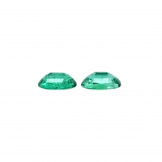 Zambian Emerald Oval 6.8x4.8mm Matching Pair 1.21 Carat