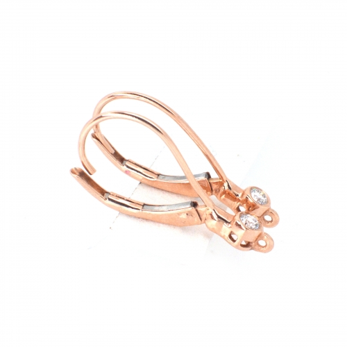 0.07 Carat Diamond Huggie Earring In 14k Rose Gold