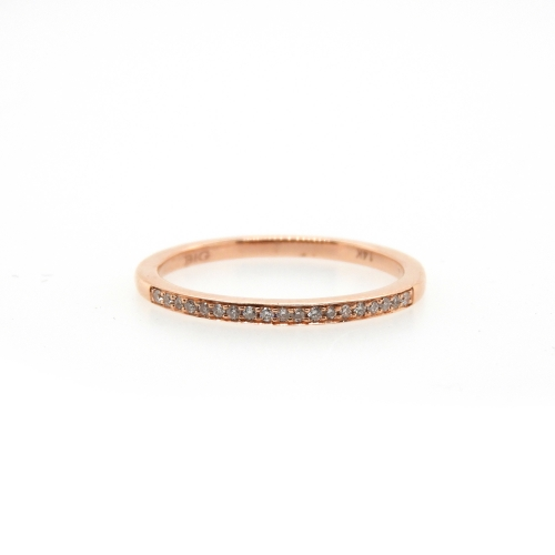 0.08 Carat Diamond Ring In 14k Rose Gold