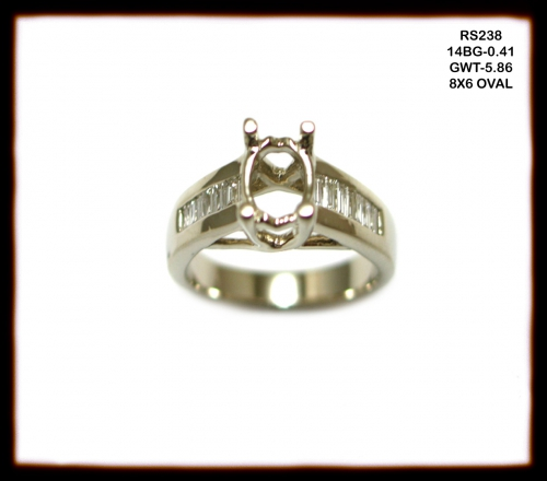 14k White Gold And Diamond Ring Semi Mount (rs238)