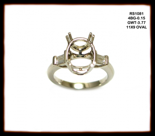14k White Gold And Diamond Ring Semi Mount (rso1081)