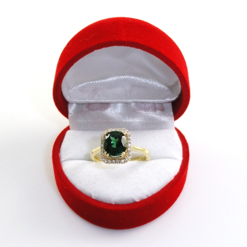 2.15 Carat Chrome Tourmaline And Diamond Ring In 14k Yellow Gold
