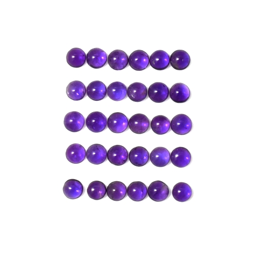 AMETHYST CABS ROUND 4MM APPROXIMATELY 7 CARAT