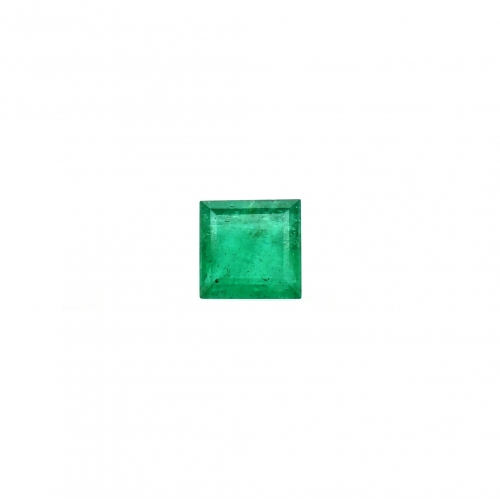 Brazilian Emerald Princess Cut 6mm Single Piece 1.00 Carat