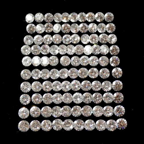 Cubic Zirconia Round 3mm (100 Pcs)