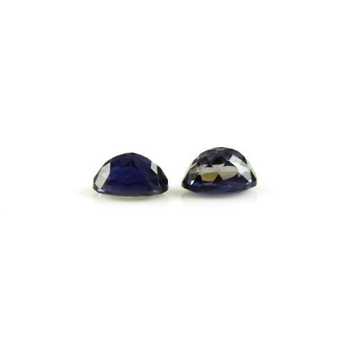 Iolite Oval Shape 7x5mm Matched Pair Approximately 1.30 Carat