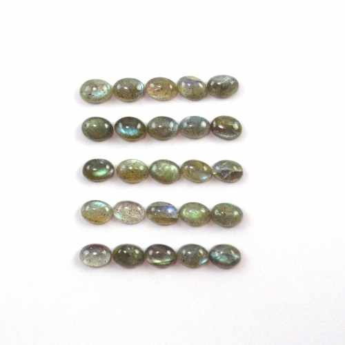 Labradorite Cabs Oval 7x5mm Approx 19 Carat