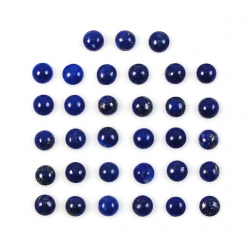 Lapis Cabs  Round  4mm Approximately 8 Carat