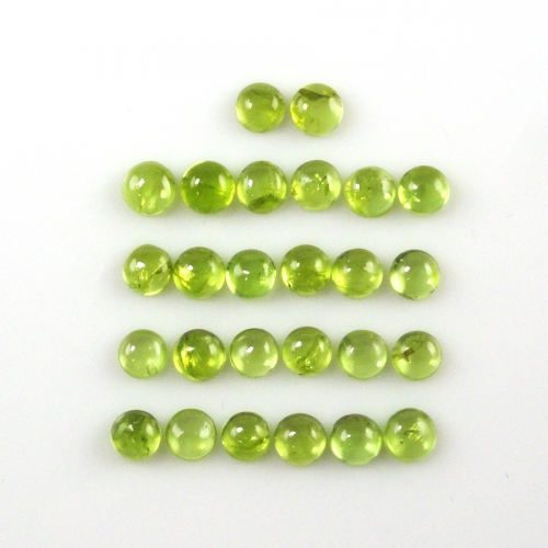 Peridot Cabs Round 5mm Approximately 12 Carat
