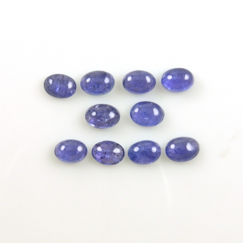 Tanzanite Cabs  Oval 7x5mm Approximately 10 Carat