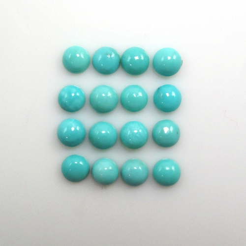 Turquoise Cab Round 5mm Approximately 6 Carat