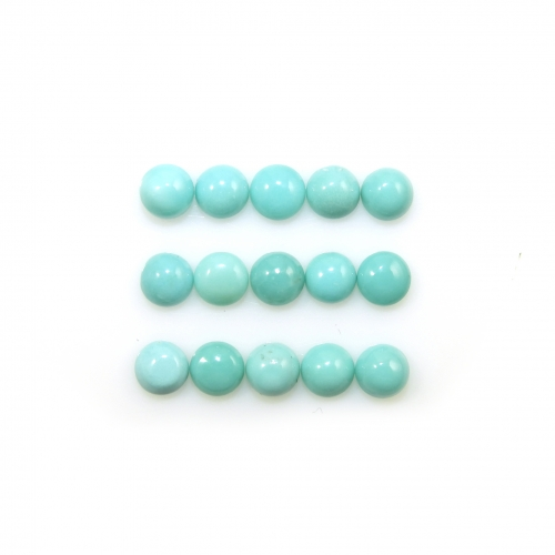 TURQUOISE CABS  ROUND 4MM APPROX  4 CARAT