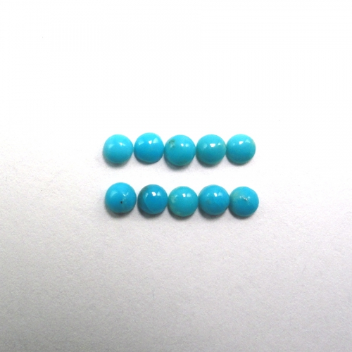Turquoise Cabs Approximately 1 Carat Round 3mm