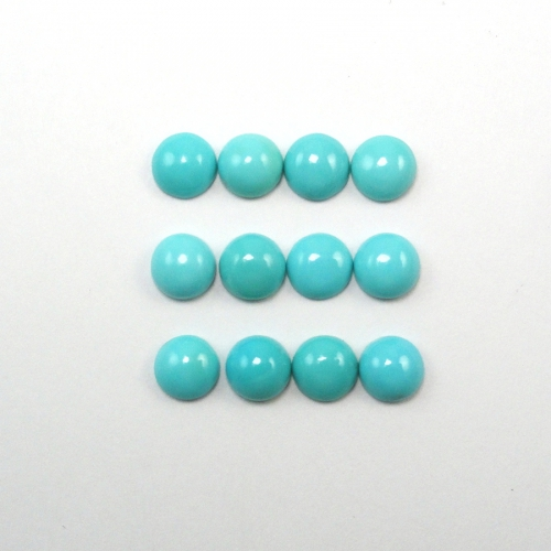 TURQUOISE CABS ROUND 6MM APPROXIMATELY 9 CARAT