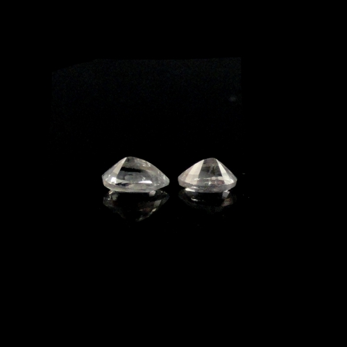 White Sapphire Pear Shape 5x3mm Matched Pair Approximately 0.50 Carat