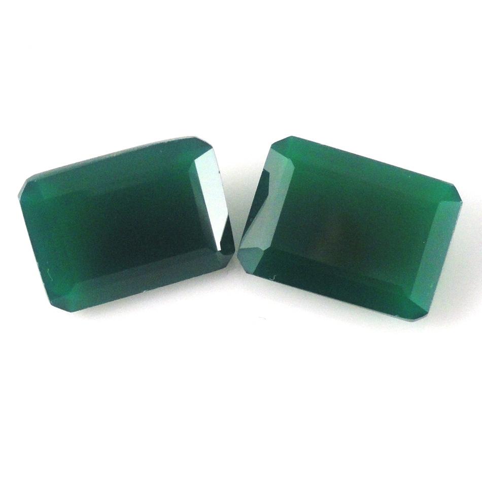 18x13 MM EMERALD CUT NATURAL GREEN ONYX  ALL NATURAL AAA